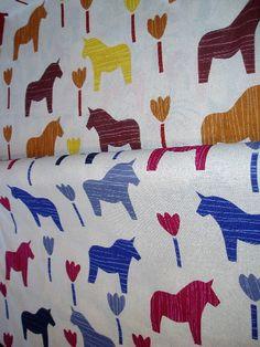 Very expensive Dala horse fabric