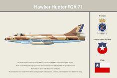 Unit Print: 9 Grupo Hawker Hunter FGA 71 Fuerza Aerea De Chile Chile Unit: 9 Grupo FAC 1