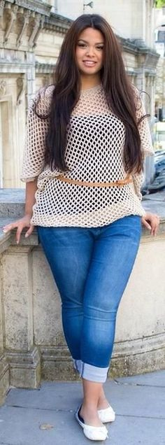 Fashionista: Plus Size Sweater I love