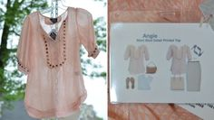 Stitch Fix Top - Angie Moni Stud Detail Printed Top Put this in my next box!
