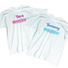 $17.99 Personalized Twin Youth T-shirt  Your fun-loving, little twins will look great in their matching Personalized Twin T-shirts. Be sure to order one for each of your twins so they can match for fun day with Grandma & Grandpa.