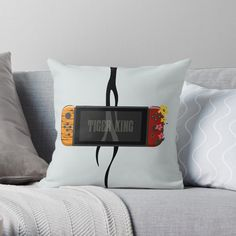 'Nintendo Switch Tiger King Edition' Throw Pillow by SinandTonic Buy Nintendo Switch, Designer Throw Pillows, Flip Clock, Pillow Design, King, Printed, Awesome, Interior, Products