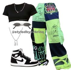 Baddie Outfits Casual, Style Outfits, Swag Outfits For Girls, Cute Swag Outfits, Teenager Outfits, Mode Outfits, Retro Outfits, Trendy Outfits, Tomboy Fashion