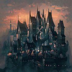 "little-dose-of-inspiration: ""Raven's Nest by angrymikko "" Nine Lives, Fantasy Setting, Inspirational Artwork, Darth Maul, Eastern Europe, Fantasy World, Storyboard, Art World, Worlds Largest"