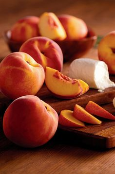 Top summer food pairing: Oregold Peaches and cheese.