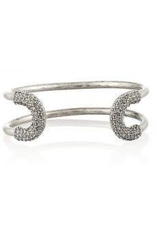 Giles & Brother Skinny Cortina silver-plated crystal cuff