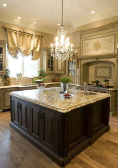 Cream Kitchen favorite, light is a bit more extravagant than I would use but beautilful!
