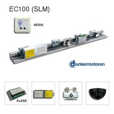 Kaba/Gilgen SLM compatible, Dunkermotoren GR motor, KLESE control box with two motor connection sockets, BEDIS switch panel, universal parts & hardware. Automatic Sliding Doors, Door Opener, Control Panel, Usb Flash Drive, Hardware, Kit, Automatic Doors, Computer Hardware, Usb Drive