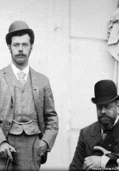 Photo of two last Russian's Emperors: Nicholas II of Russia and his father Alexander III of Russia 1890 Exact date unknown
