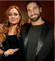 """WWE Superstars Seth Rollins (Colby Lopez) with his girlfriend """"The Man"""" Becky Lynch (Rebecca Quin). Wwe Seth Rollins, Seth Freakin Rollins, Seth Rollins Girlfriend, Wwe Pictures, Wwe Photos, Wwe Raw Women, Becky Wwe, Wwe Couples, Wwe Superstar Roman Reigns"""