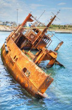 Poseidon shipwreck, Port of Piraeus, Athens, Greece