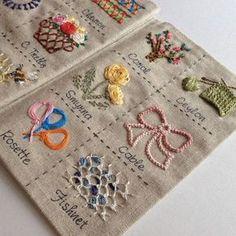 . . 2년전, 친구에게 가르쳐 주기 위해, 만들었던 실용적인 스티치만 모아놓은, #프랑스자수 #스티치북 ... 코럴, 실론, 스미르나, 케이블, 로젯, 피쉬넷 스티치... . [마지막장] 이다요 . . #자수 #자수타그램 #스티치 #sititchbook #needlepoint #needlework #stitch #embroidery #flower #fish #coral