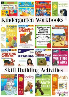 Great reference list! Pin it for later. Skill building workbooks for homeschooling kindergarten.