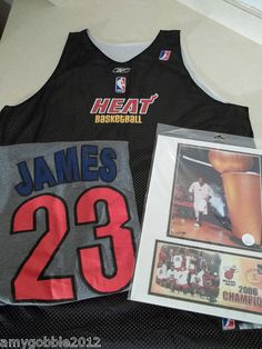 Miami Heat NBDL Jersey Lebron James Cavaliers T Shirt & 2006 USPS NBA Champions  FREE shipping with In 12 hours of purchase!!