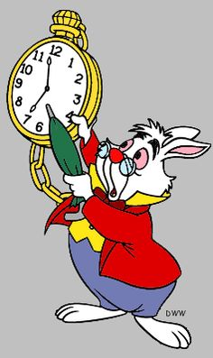 ... White Rabbit pointing to ...