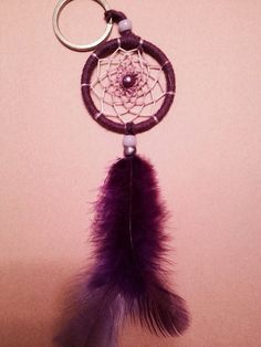 Purple Dreamcatcher Keychain on Etsy, $4.59