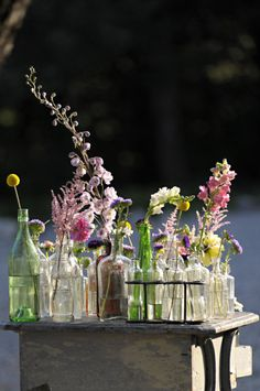 Wildflowers and bottles