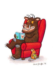 Grufalo reads (of course! Axel Scheffler, Light Fest, Library Inspiration, Facebook Art, Library Displays, Children's Literature, I Love Books, Funny Gifts, Book Worms