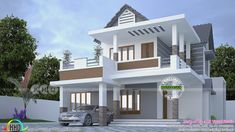 Four Bedroom Houses . Four Bedroom Houses . 4 Bedroom Bungalow Plan In Nigeria 4 Bedroom Bungalow House House Porch Design, Bungalow House Design, House With Porch, Modern House Design, Porch Kits, Porch Ideas, Porch Windows, Kerala House Design, Kerala Houses