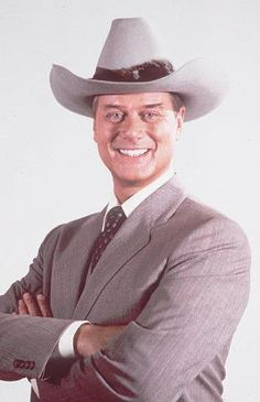 """Larry Hagman, who played a fictional Texas oilman who embodied the modern cowboy image on TV's """" Dallas. Serie Dallas, Dallas Tv Show, Dallas Series, I Dream Of Jeannie, Larry Hagman, Tv Icon, Thanks For The Memories, Old Tv Shows, Vintage Tv"""