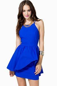 A'GACI Stellar Peplum Dress - DRESSES