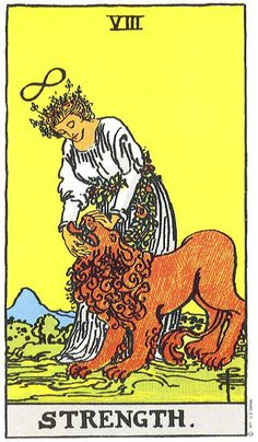 Tarot Card - strength, patience, compassion, soft control