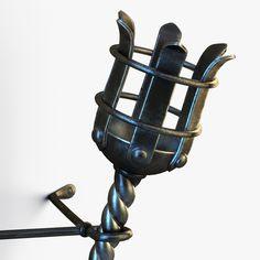 3d metal medieval torch model