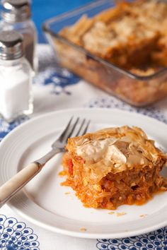 Greek Cabbage Stew Pie, with Feta, Fennel and Tomato [Greek Vegetarian]
