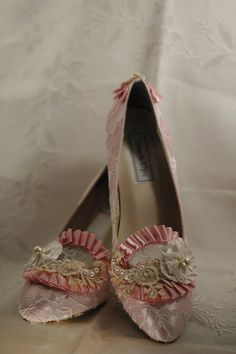 Regardless if I would ever have an opportunity to wear them, they are adorable <3 Pink & Ivory Marie Antoinette Shoes