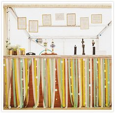 Decorate a bar with streamers to customise