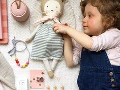 Tan and Lace Coastal Bun. Bunny Doll Easter Doll by ElkandIvy