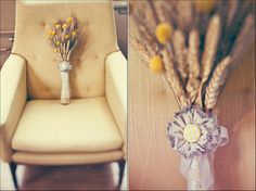 Simple bridesmaids bouquets. {Jagger Photography}