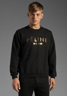 95dadb48340 Shop for Brian Lichtenberg Feline Sweatshirt in Black Gold at REVOLVE.
