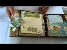 Graphic 45 Ring- Binder Baby Album - YouTube
