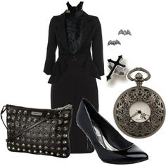 Corp Goth, created by theeverydaygoth.polyvore.com