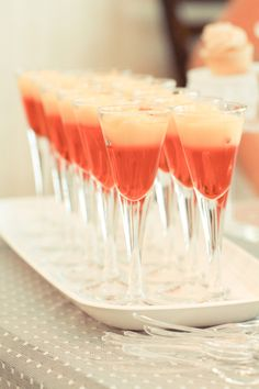 Jello looks so much prettier served up in pretty glasses like these. Love the details of this Rustic + Charming Bridal Shower! #bridalshower #jello #desserttable