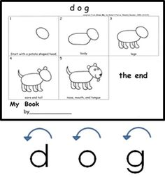 Dog is an anchor word for kindergarten-friendly handwriting, phonics, and word work.