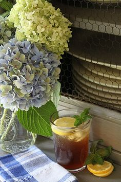hydrangeas and sweet tea