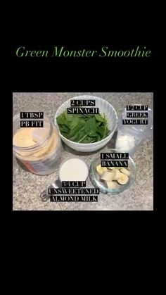 Spinach Smoothie Recipes, Breakfast Smoothie Recipes, Healthy Smoothies, Healthy Drinks, Smoothies With Spinach, Easy Green Smoothie Recipes, Green Breakfast Smoothie, Healthy Shakes, Diet Recipes