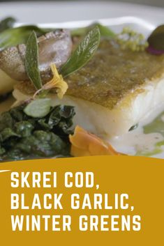 Serves 2 Black Garlic, Cod Recipes, Best Chef, Chicken, Cooking, Winter, Food, Cod Fish Recipes, Kitchen