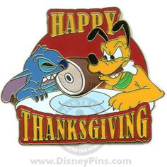 Happy Thanksgiving 2008 - Stitch and Pluto