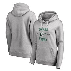 Dallas Stars Women's Heritage Pullover Hoodie - Ash