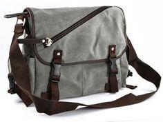 Amazon.com: Cosmos ® Smoke Gray Vintage Classic Canvas Messenger Sport Camera Bag with Cosmos Fastening Strap: Camera & Photo