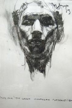 "hairi yaakub; Charcoal, Drawing ""Potrait"""