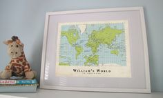 A World to Discover - Custom World Map Poster