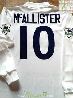 f4b7ad9ded9 Relive Gary McAllister s 1995 1996 Premier League season with this original  Asics Leeds United home