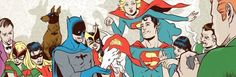 50's dc superman and batman and friends