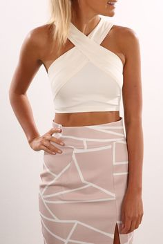 Check out this product from Jean Jail: Unassigned: Tell You Crop White