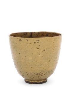 Tea bowl, possibly Hagi ware 18th-19th century Edo period Stoneware with ash glaze H: 10.4 W: 11.6 cm Japan