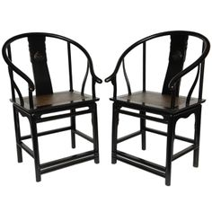 1stdibs | Pr/Ming Style Teak Chairs From A Private Collector